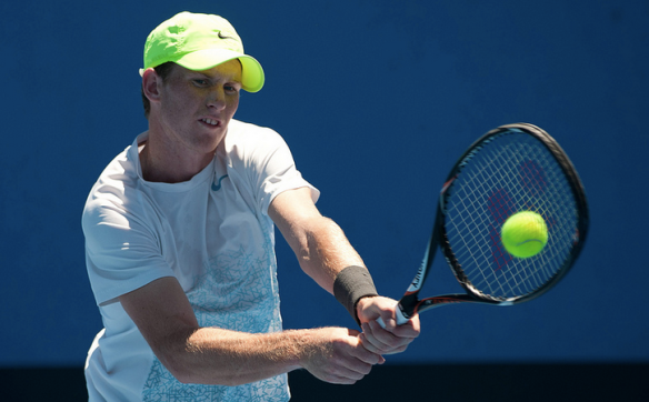 Harry in action in Australian Open Wildcard Playoffs